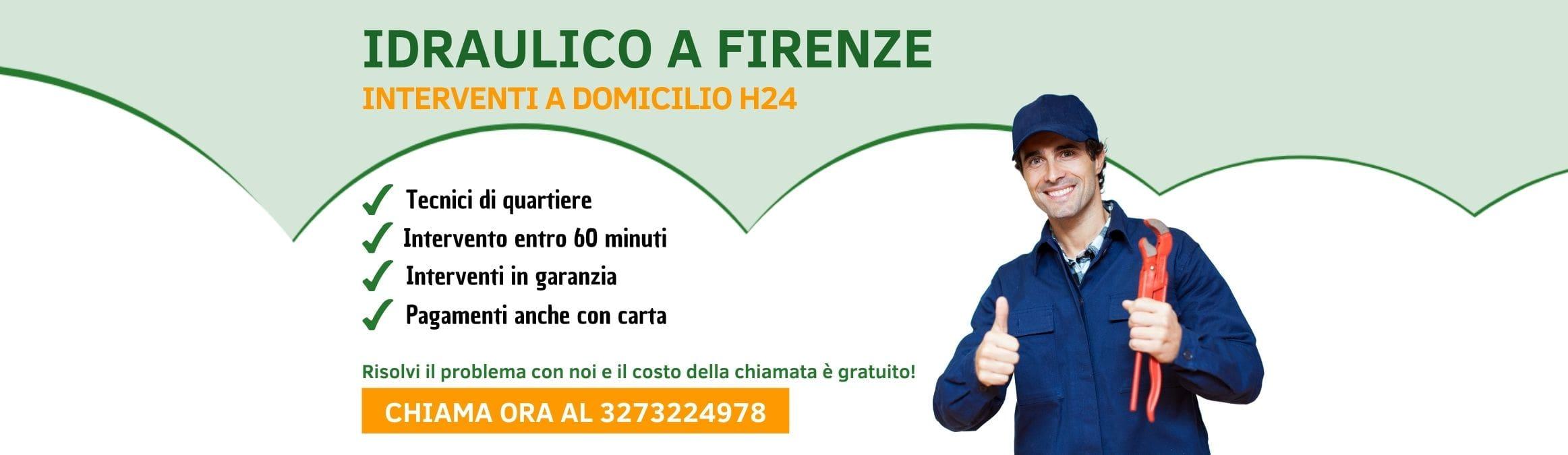 Idraulico a Firenze h24